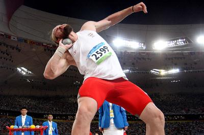 Tomasz Majewski unleashes a 21.51m winning throw (Getty Images)