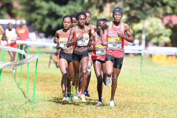 The Kenyan women's squad en route to their dominant performance at the IAAF World Cross Country Championships Kampala 2017 (Jiro Mochizuki)