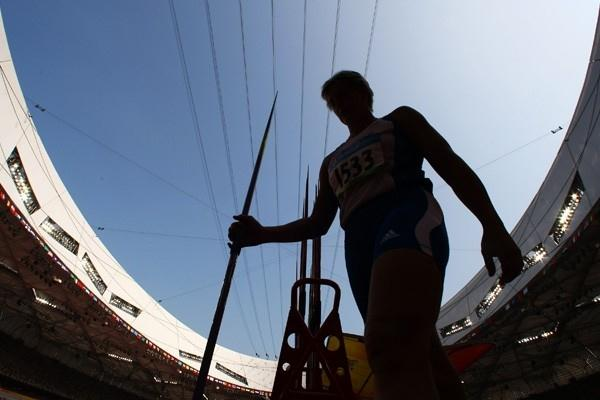 Barbora Spotakova throws 67.69m to lead the qualifiers for the women's javelin final (Getty Images)