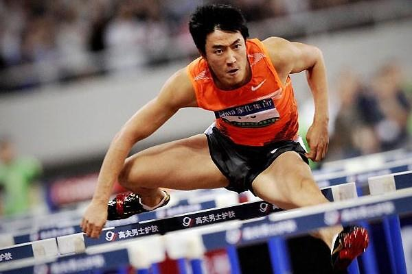 Liu Xiang makes his comeback from injury taking second place in the 2009 Shanghai Golden Grand Prix (Getty Images)