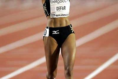 The joy of success - Meseret Defar improves her World best for Two Miles in Brussels (Getty Images)