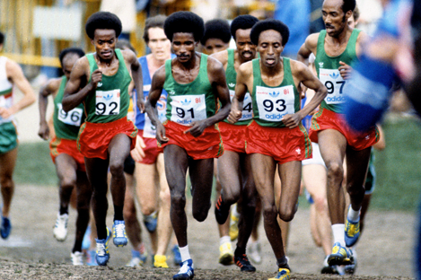 The senior men's race at the 1981 IAAF World Cross Country Championships in Madrid (Mark Shearman)