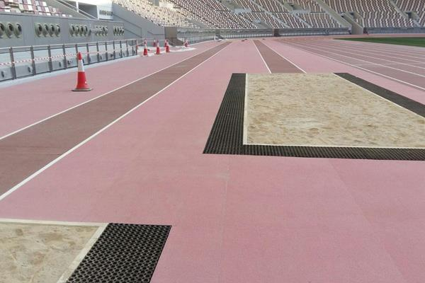 New Mondo surface at Khalifa Stadium (LOC)