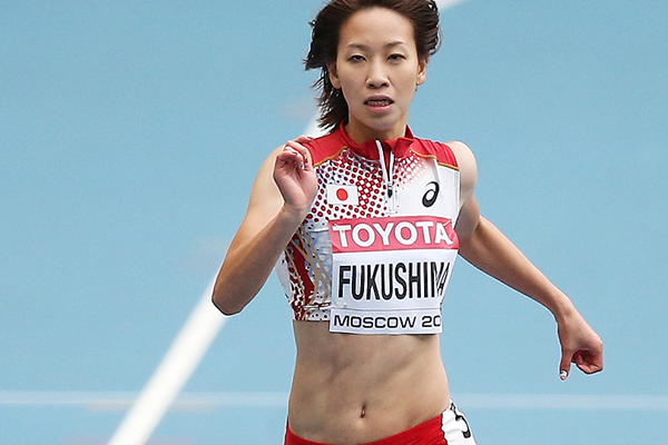 Japanese sprinter Chisato Fukushima at the IAAF World Championships (Getty Images)