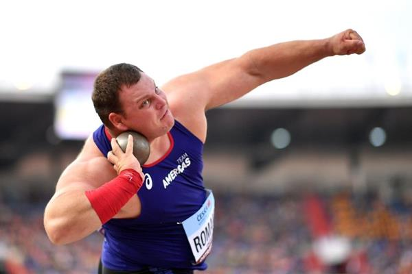 Darlan Romani in the Continental Cup shot put (Getty Images)