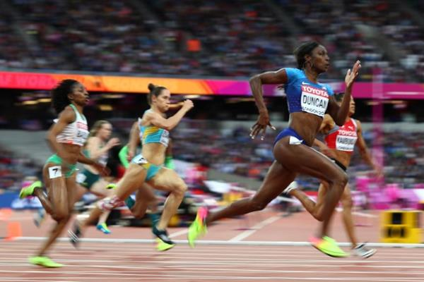 Kimberlyn Duncan in the 200m heats at the IAAF World Championships London 2017 (Getty Images)