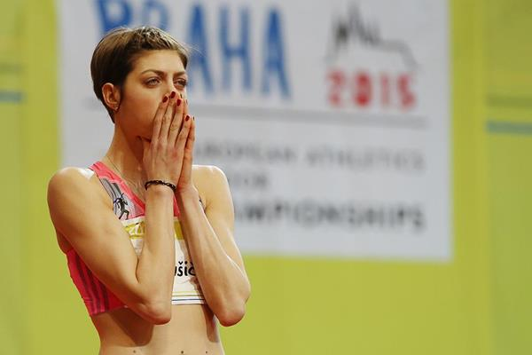 Blanka Vlasic at the 2014 Prague indoor meeting (Praha Indoor 2014 / Pavel Lebeda)