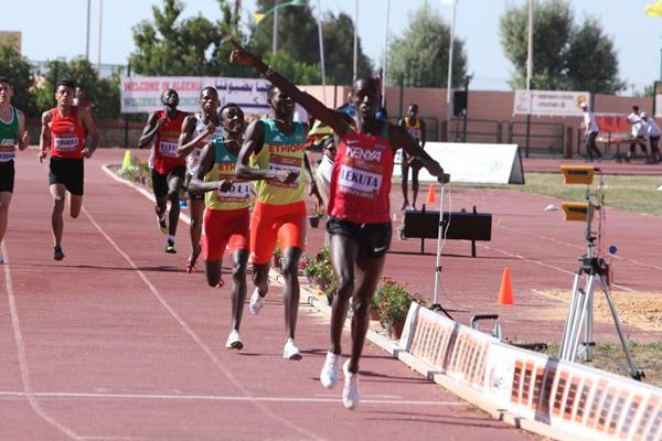 Solomon Lekuta wins the 800m at the African junior championships (organisers)