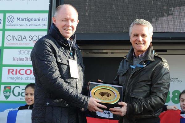 WA Heritage Director Chris Turner and 1984 Olympic and 1983 World 10,000m champion Alberto Cova (WA Heritage)