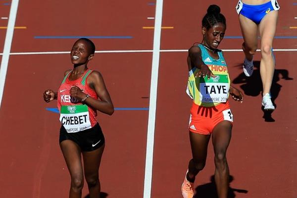 Beatrice Chebet wins the 5000m at the IAAF World U20 Championships Tampere 2018 (Getty Images)