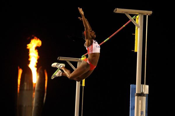 Yarisley Silva improves to 4.75m to claim an upset victory at the Pan Am Games in Guadalajara (Getty Images)
