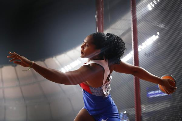 Denia Caballero at the IAAF World Athletics Championships Doha 2019 (Getty Images)