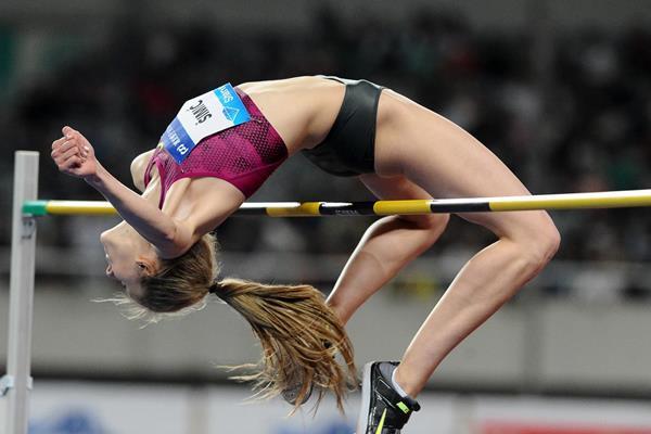 Ana Simic in the high jump at the 2014 IAAF Diamond League meeting in Shanghai (Errol Anderson)