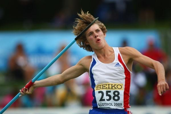 Kevin Mayer of France during the Octathlon Javelin Throw (Getty Images)