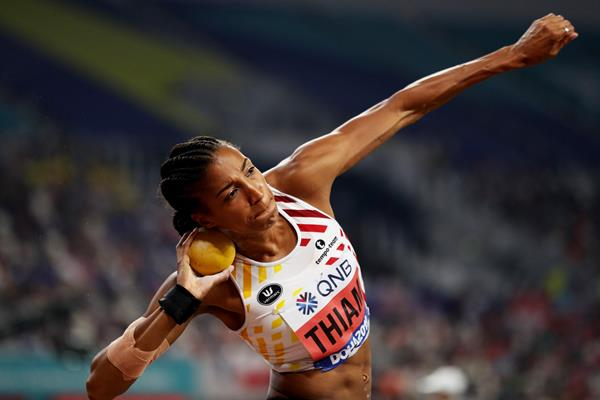 Nafissatou Thiam at the IAAF World Athletics Championships Doha 2019 (Getty Images)