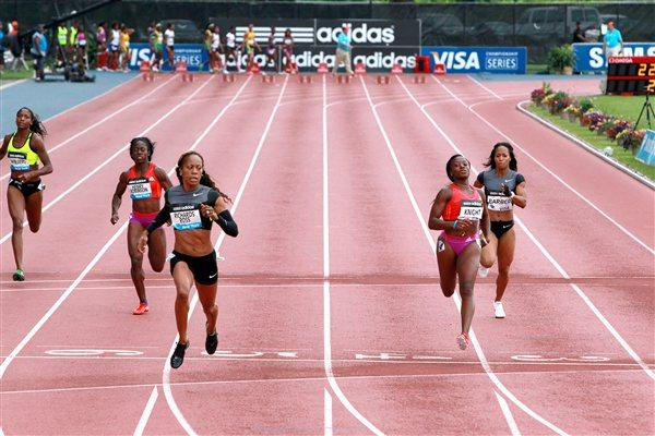 Big 22.09 win for Sanya Richards-Ross in the New York 200m (Victah Sailer)