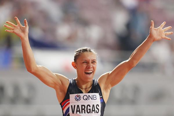 Andrea Carolina Vargas at the IAAF World Athletics Championships Doha 2019 (Getty Images)