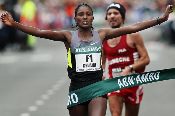 Tiki Gelana, winner of the women's race (Organisers)