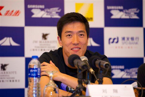 Familiar territory - Liu Xiang in the spotlight in Shanghai (Errol Anderson)