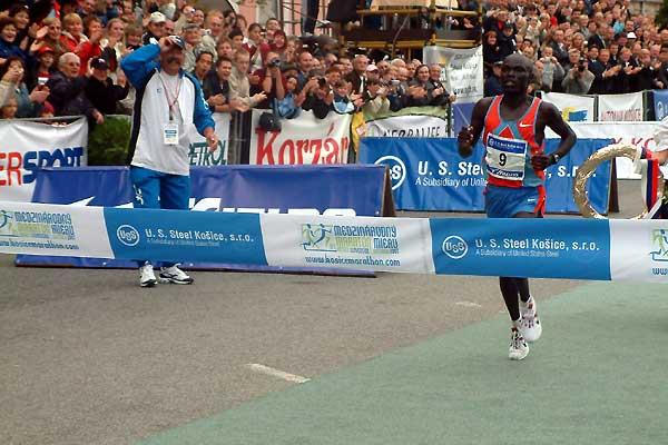 William Biama of Kenya wins 84th edition of the Kosice Marathon in 2:09:53 (c)