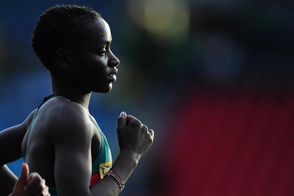 Caroline Chepkoech Kipkirui at the IAAF World Junior Championships (Getty Images)