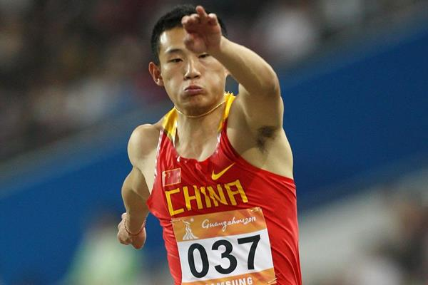 Cao Shuo, winner of the Triple Jump (Getty Images)