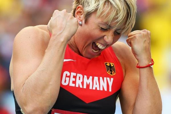 Obergfoll in the womens Javelin Throw Final at the IAAF World Athletics Championships Moscow 2013 (Getty Images)
