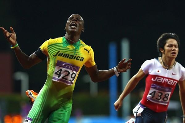 Jamaica's Odane Skeen wins Youth Olympic Games gold in the 100m clocking a personal best 10.42 (Getty Images)