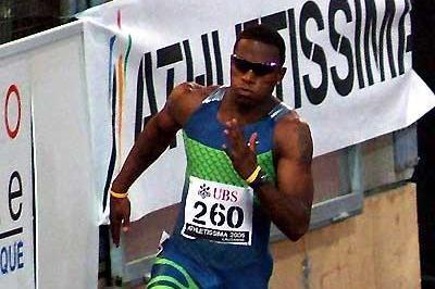 Xavier Carter (USA) running to the second fastest ever clocking for 200m - Lausanne (Lorenzo Sampaolo)