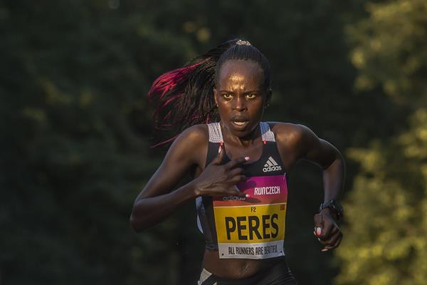 Peres Jepchirchir en route to her women-only race half marathon world record in Prague (Organisers)