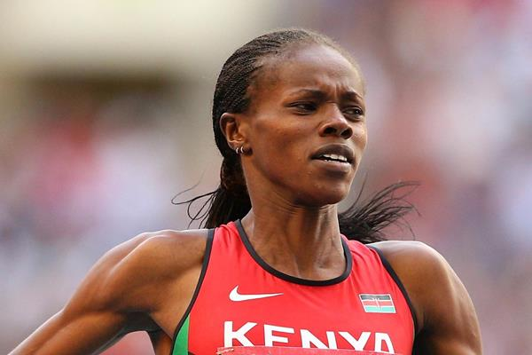 Kenyan middle-distance runner Eunice Sum in action (Getty Images)