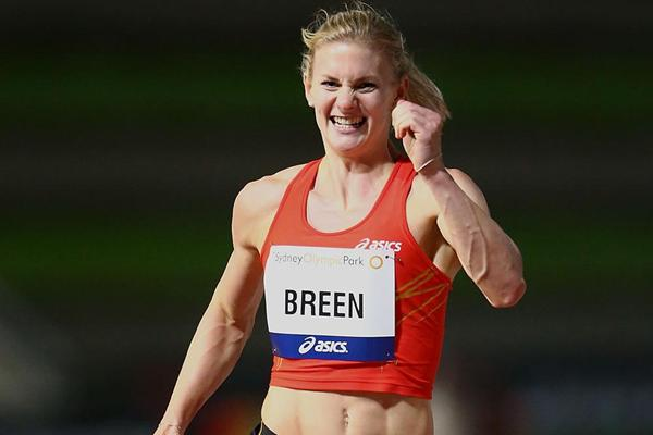 Melissa Breen wins the sprint double in Sydney with PBs in both events (Getty Images)