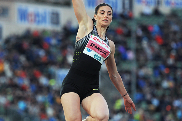 Long jump winner Ivana Spanovic at the IAAF Diamond League meeting in Oslo (Mark Shearman)