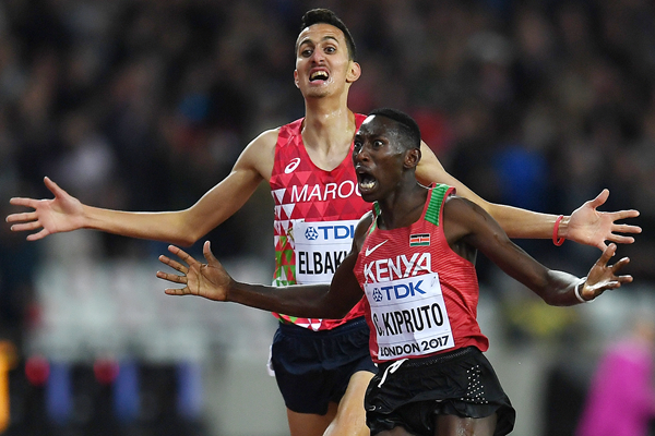 Steeplechase rivals Conseslus Kipruto and Soufiane El Bakkali (Getty Images)