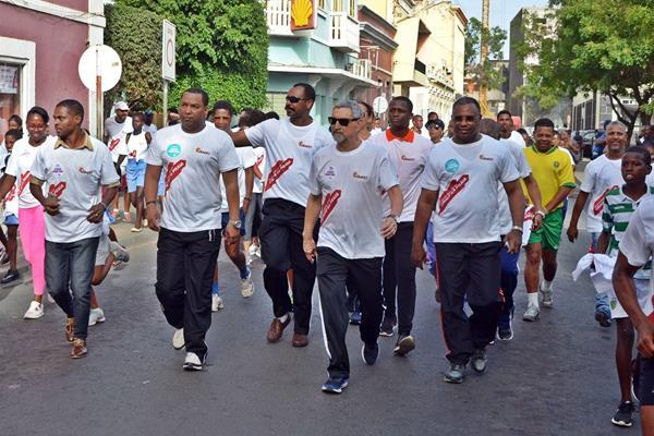 President of Cape Verde Jorge Carlos Fonseca in the IAAF Run 24:1 event in Praia (Organisers)