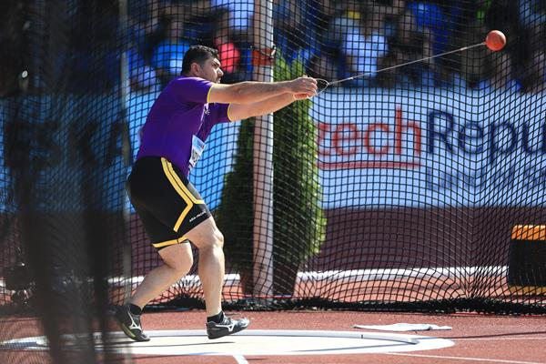 Dilshod Nazarov, the hammer winner at the IAAF Continental Cup Ostrava 2018 (Getty Images)