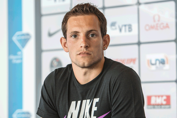 Renaud Lavillenie at the Monaco Diamond League press conference (Philippe Fitte)