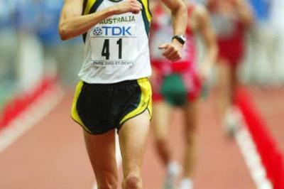 Luke Adams of Australia in action at the 2003 World Champs (Getty Images)