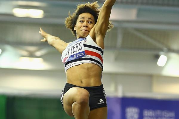 Jazmin Sawyers at the 2016 British indoor championships (Getty Images)