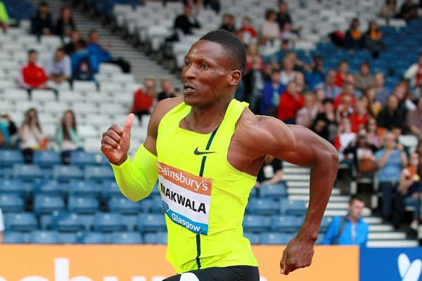 Isaac Makwala winning the 400m at the 2014 IAAF Diamond League in Glasgow (Victah Sailer)
