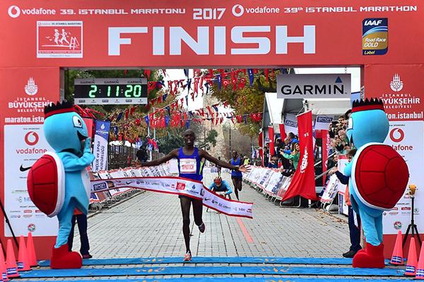 Abraham Kiprotich wins the Istanbul Marathon (Organisers)