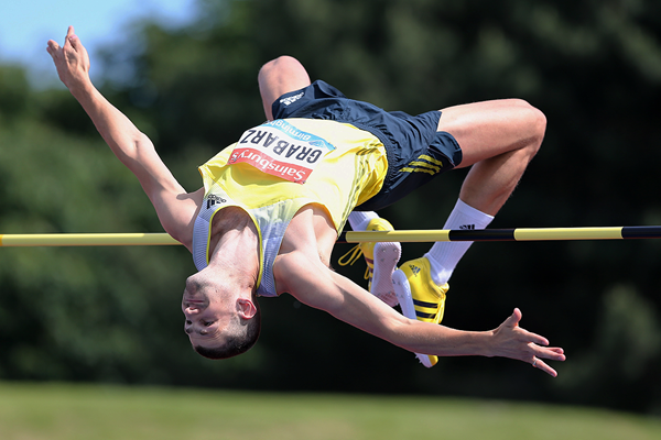 Robbie Grabarz at the IAAF Diamond League meeting in Birmingham (Getty Images)