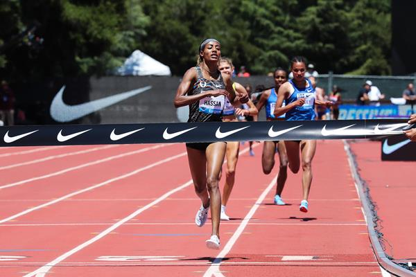 Sifan Hassan wins the 1500m at the IAAF Diamond League meeting in Stanford (Victah Sailer)