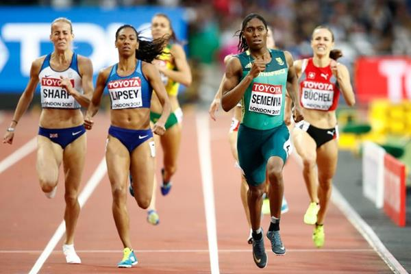 Caster Semenya in the 800m semi-finals at the IAAF World Championships London 2017 (Getty Images)