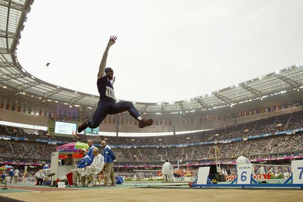 Dwight Phillips, winner of the Long Jump at the 2003 IAAF World Championships in Paris (Getty Images)