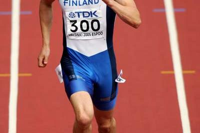 Jaakko Ojaniemi of Finland in the Decathlon's 100m (Getty Images)