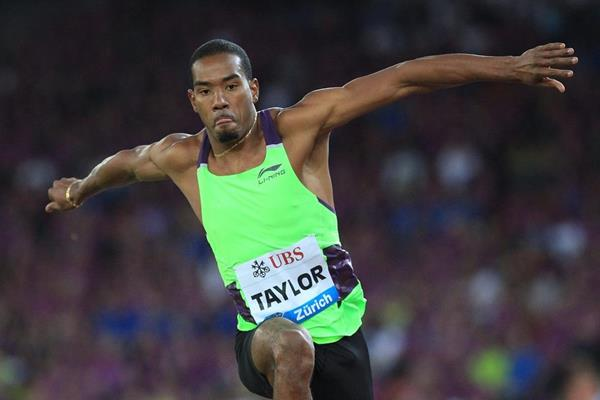 Christian Taylor at the 2014 IAAF Diamond League final in Zurich (Jean-Pierre Durand)