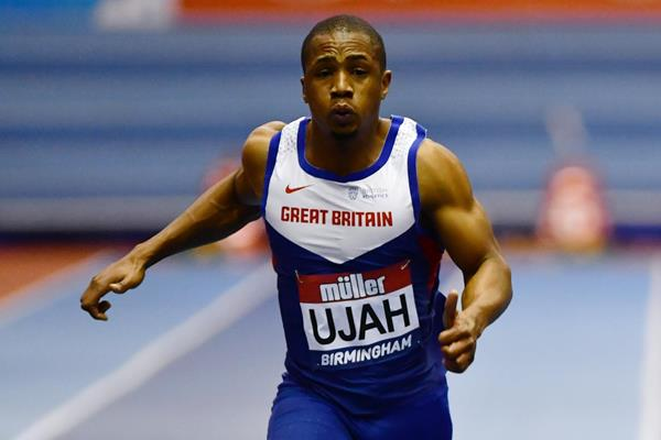 Chijindu Ujah in the 60m at the Muller Indoor Grand Prix (Getty Images)