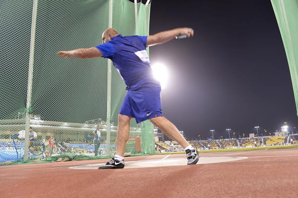 Piotr Malachowski at the 2016 IAAF Diamond League meeting in Doha (Hasse Sjogren)