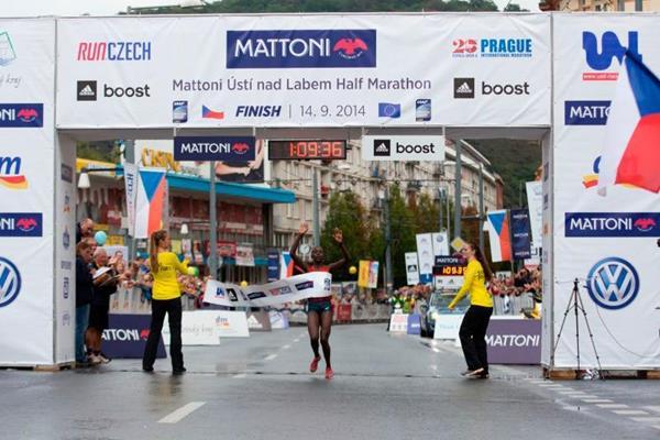 Correti Jepkoech wins the Usti nad Labem Half Marathon (Organisers)
